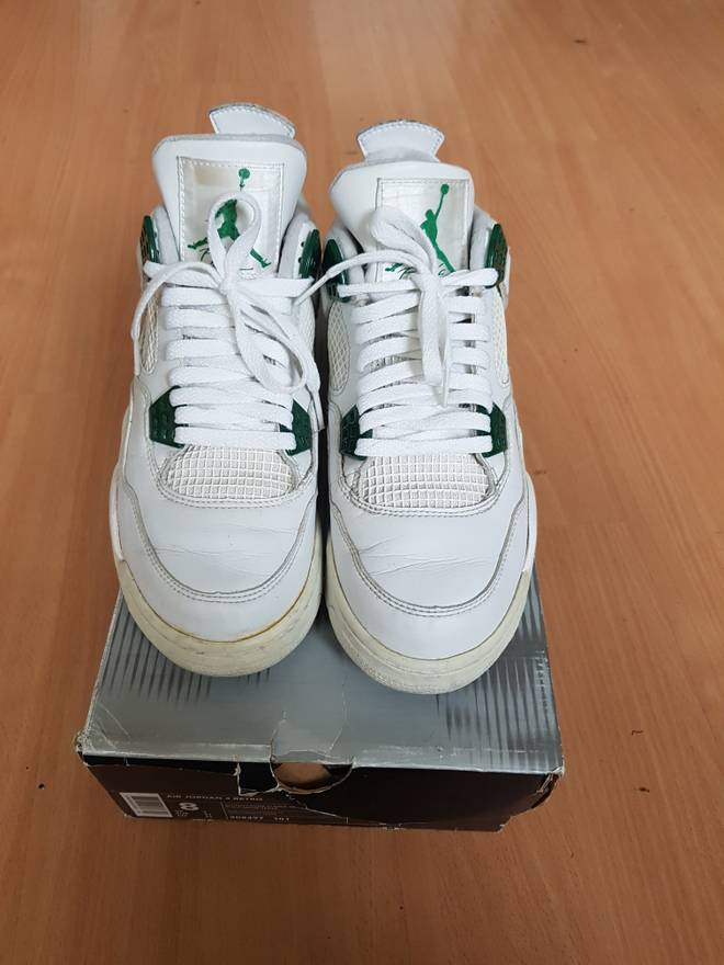 bed8a35eb3a407 ... white chrome classic pnkfyvxfflf green e5f54 04f75  coupon jordan brand  nike air jordan 4 iv classic green or size us 8 eu 41