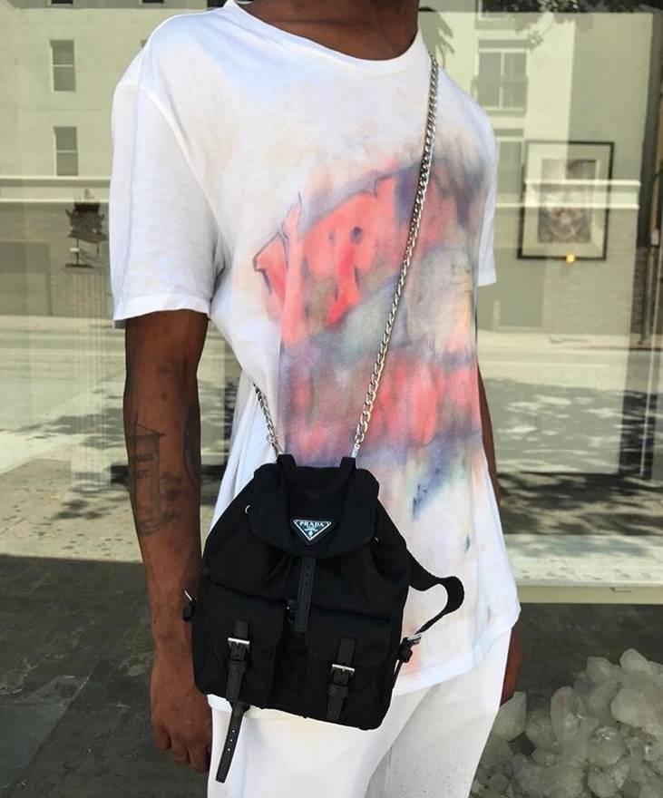 44591dbaf ... discount code for prada prada mini backpack chain shoulder bag size one  size 7464d 5d6e3