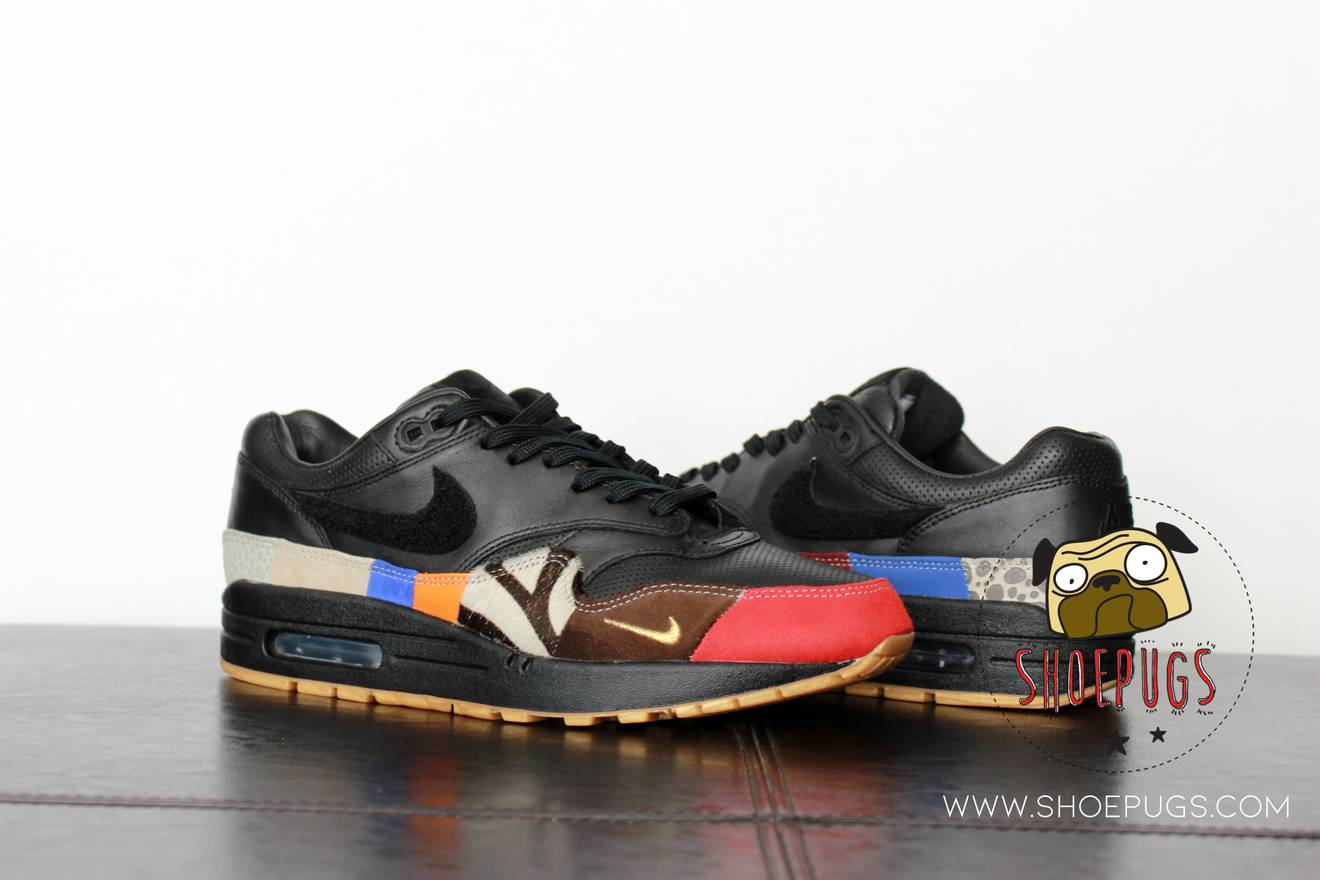 low priced 55c02 2805f ... italy nike 2017 nike air max 1 master sz 9 black what the atmos animal  size