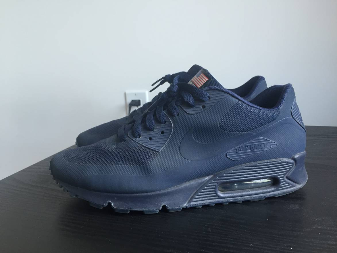 closeout nike air max 90 hyperfuse independence day navy