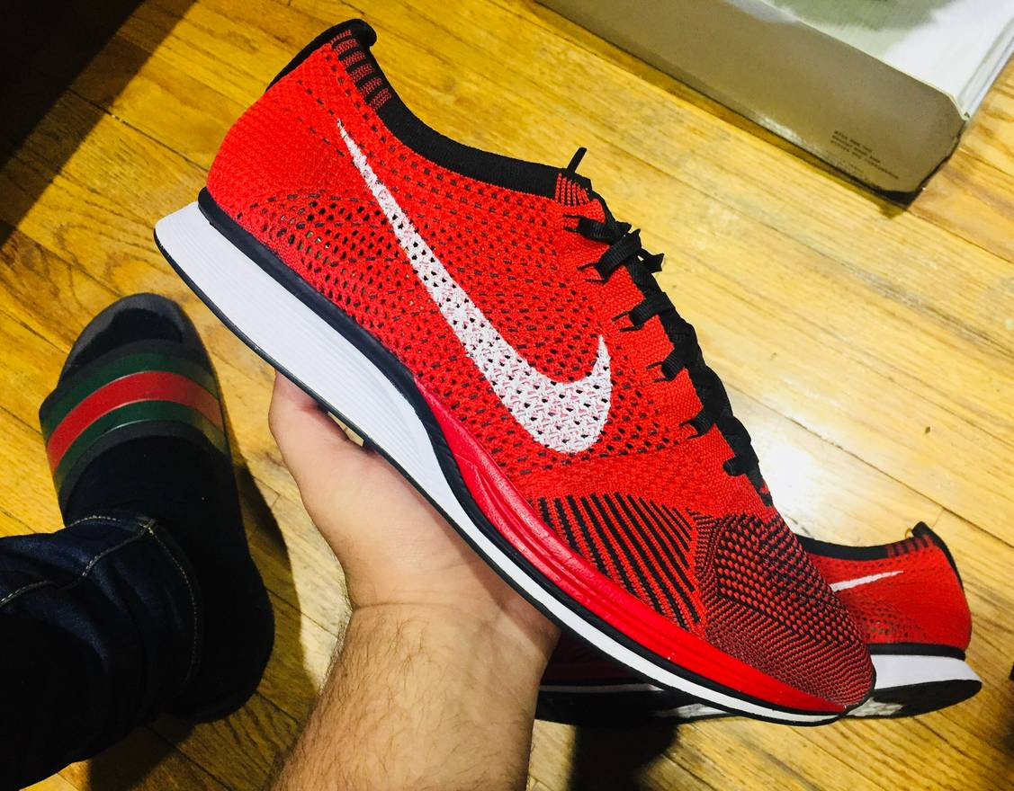 693a68be912 ... australia nike flyknit racer university red trainer ultra boost size us  11.5 eu 44 45 12d95