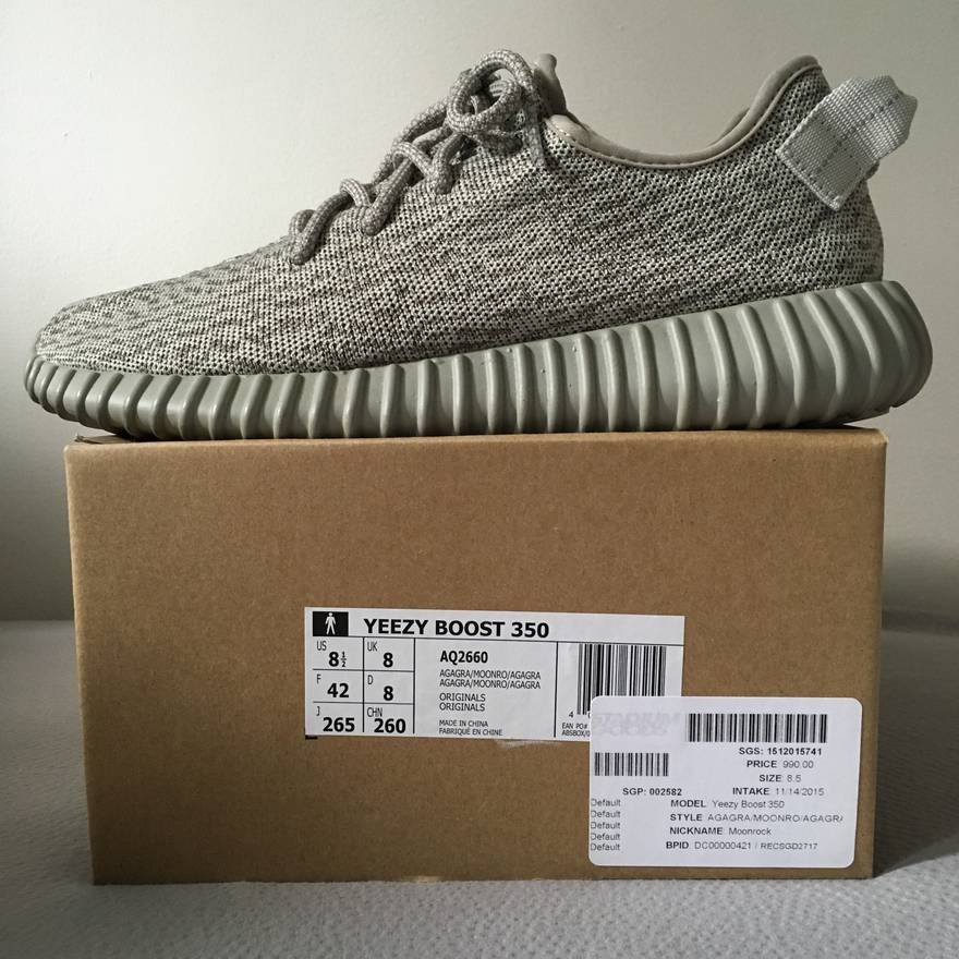 b8bd652e1 ... original 4666c e4d0a  ebay adidas kanye west yeezy boost 350 moonrock  size us 8.5 eu 41 42 0d157 e53b2
