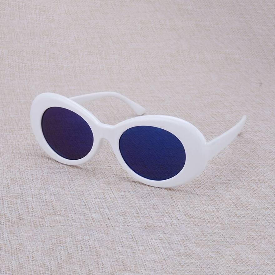 Kurt Cobain Kurt Cobain Sunglasses White Frame Mirrored Bluelenses ...