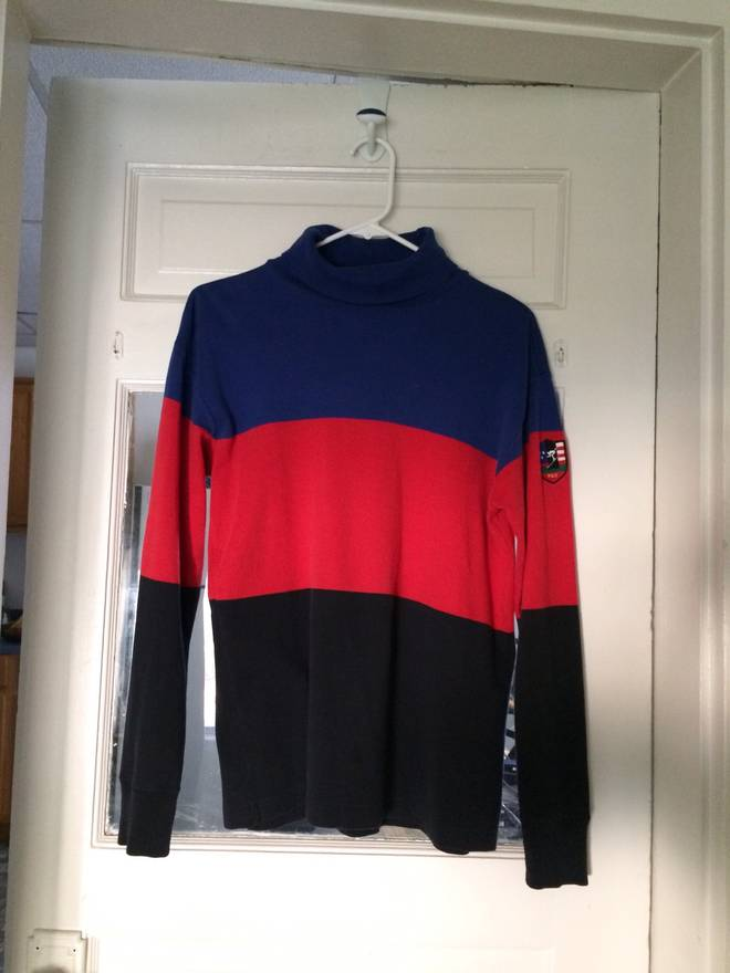 Polo Ralph Lauren Vintage Striped Ski Turtleneck Size US M EU 48