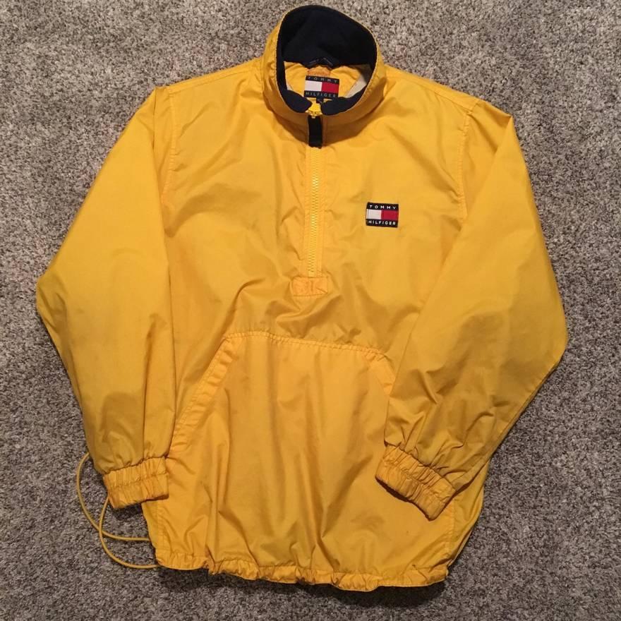 5221104c6 Tommy Hilfiger Anorak Jacket Yellow - Image Of Jacket