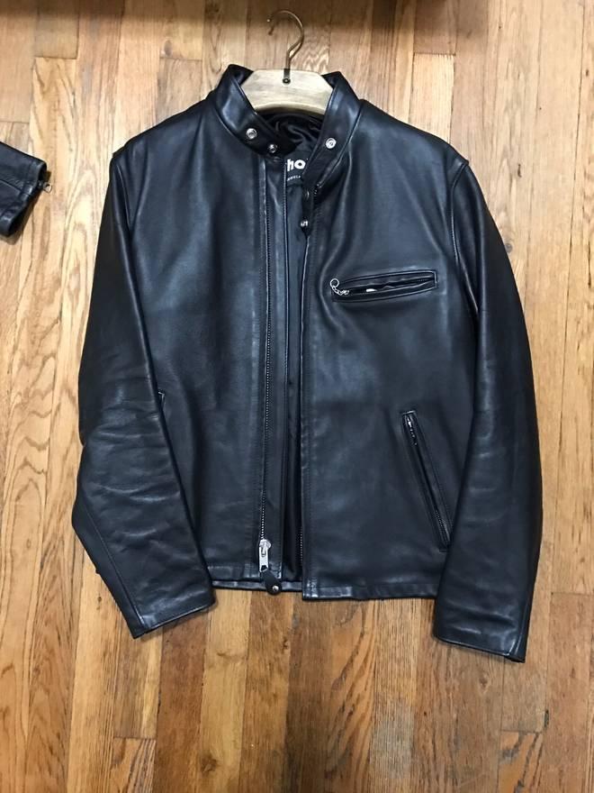 19e59fcf2 Schott Cafe Racer Leather Jacket – Motorrad Bild Idee