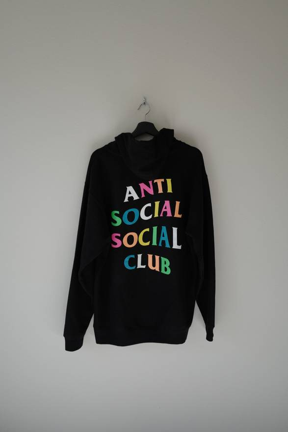 5b144e8e5 Antisocial Social Club ASSC X Frenzy Multicolor Hoodie Size US L EU 52 54