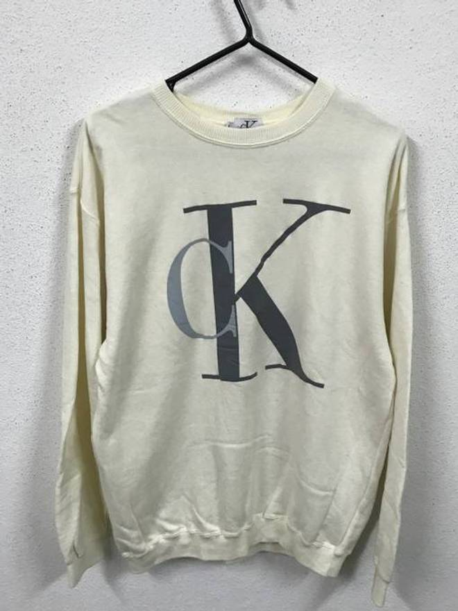 Sale For Both 90s Calvin Klein CK big Logo Black amp; Gray Shirt ...