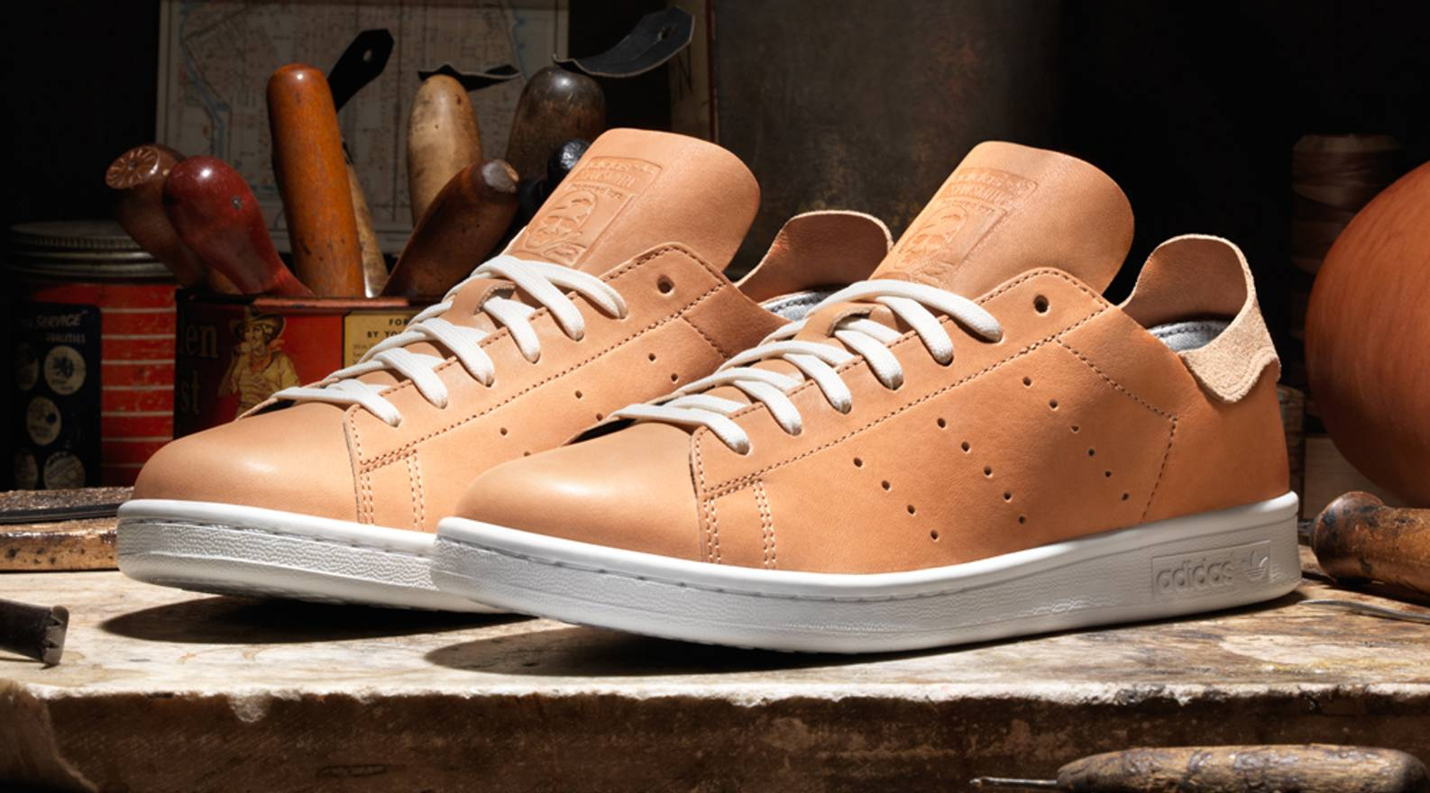 best loved 00d26 9f023 ... reduced adidas adidas stan smith x horween leather fits us 8.5 size us  7.5 50297 39de8