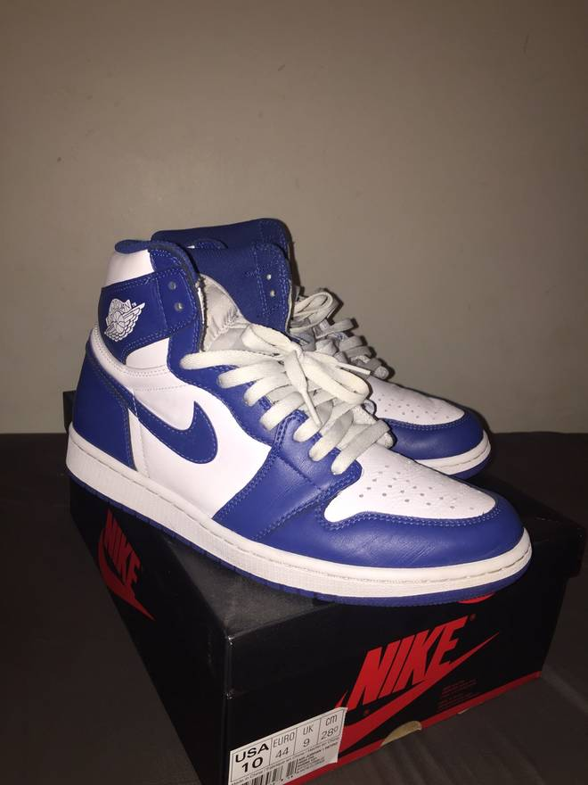 030e98e3e89b ... new zealand nike air jordan 1 storm blue size 10 size us 10 eu 43 52a8f