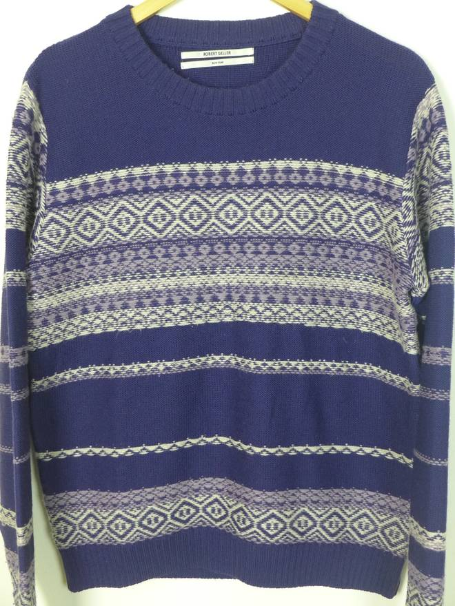 Robert Geller FW10 Reverse Fair-Isle Sweater Size m - Sweaters ...