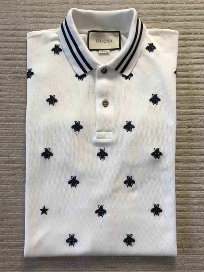 60d3d577 Shoptagr | Polo With Bees And Stars by Gucci