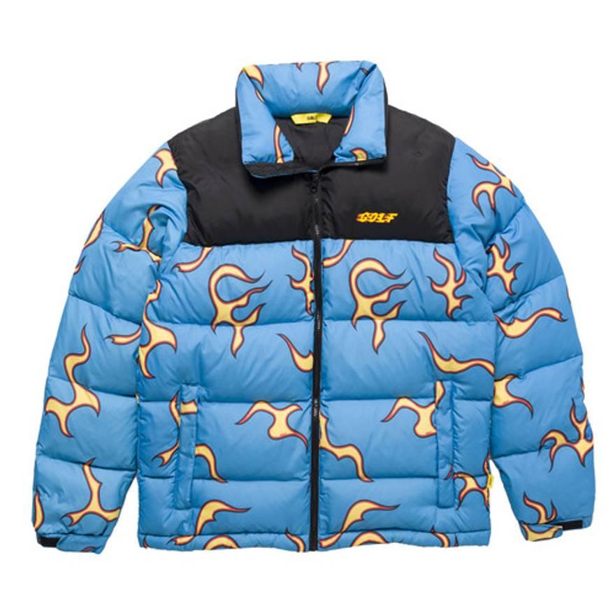 Golf Wang Flame Puffer Jacket Tyler The Creator Size US L EU 52
