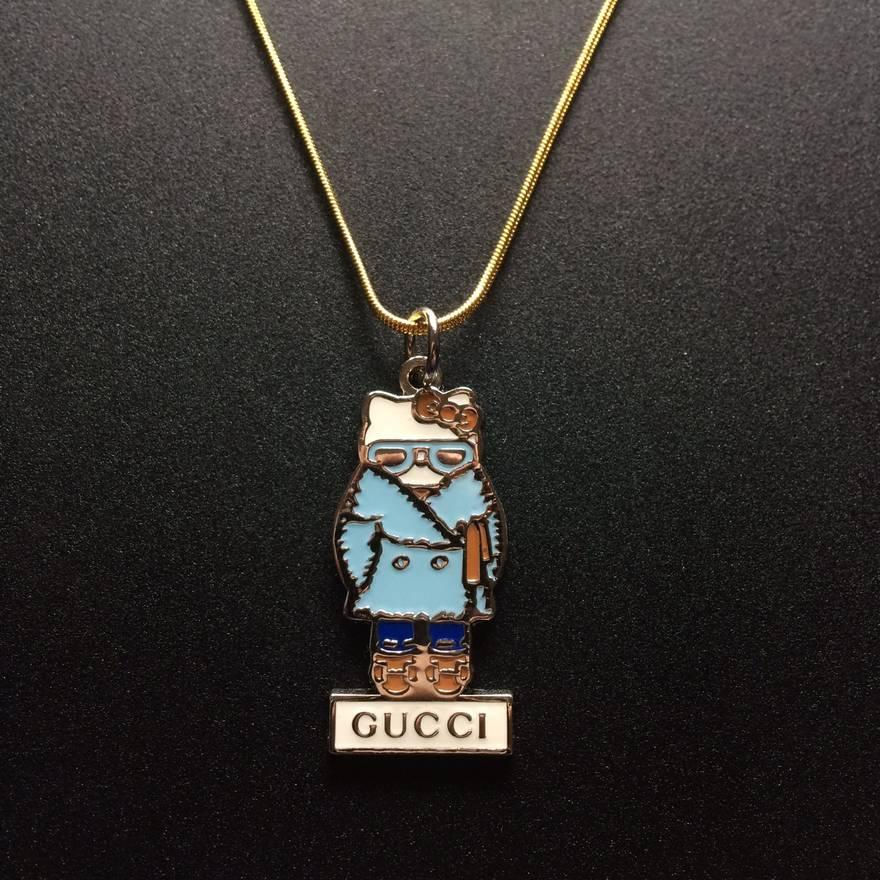 Gucci gucci x hello kitty pendant gold necklace size one size gucci gucci x hello kitty pendant gold necklace size one mozeypictures Choice Image