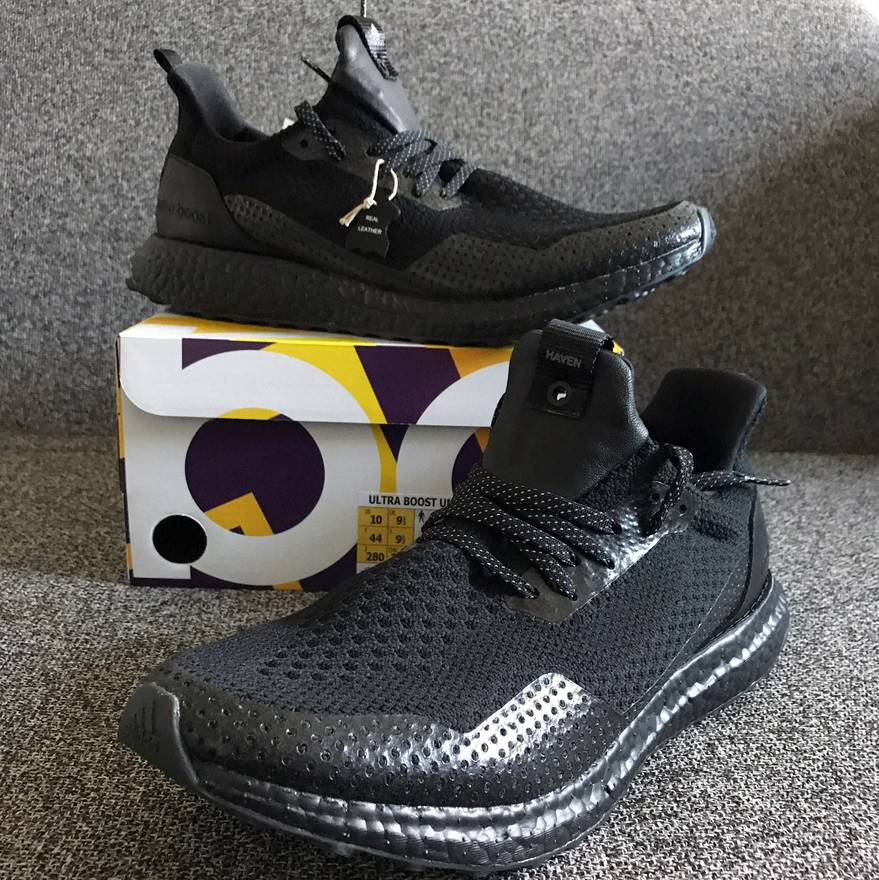 Adidas New Ultra Boost X Haven Triple Black US 10 Size EU