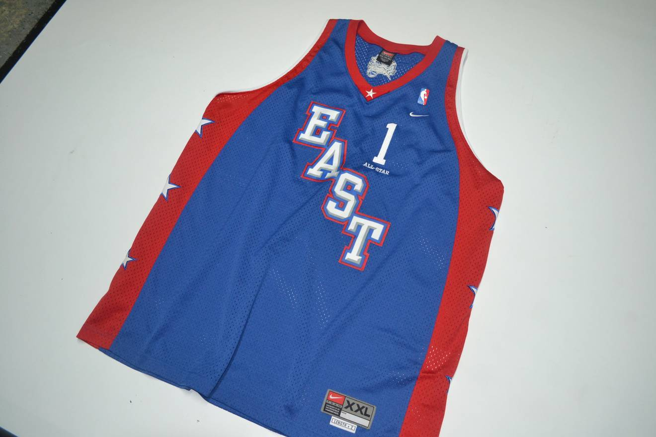 d8cfbb98b81 new zealand nike vtg nba all star tracy mcgrady orlando magic east jersey  size xxl basketball