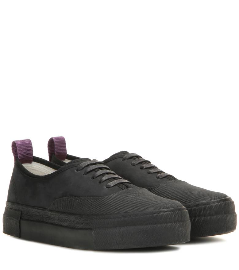 Black Leather Mother Galosch Sneakers Eytys