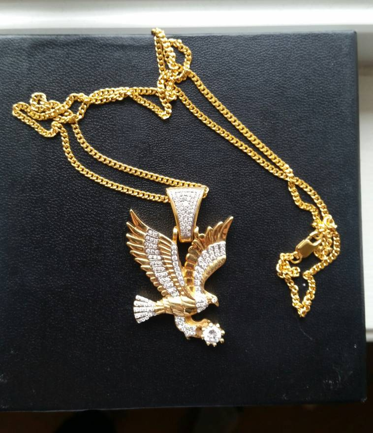 Gold the gld shop eagle pendant and chain necklace size one size gold the gld shop eagle pendant and chain necklace size one size aloadofball Choice Image