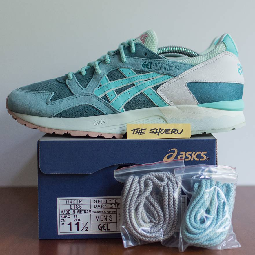 46a1c02f299d united kingdom ef4f6 e9120 asics gel lyte v sage shoes dark green ...
