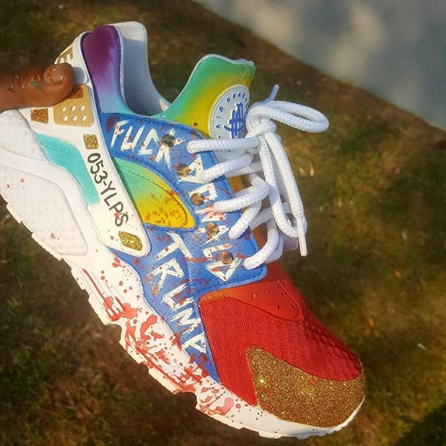 Nike Marcos Van Gogh Custom Air Huaraches WTF Size US 11 EU