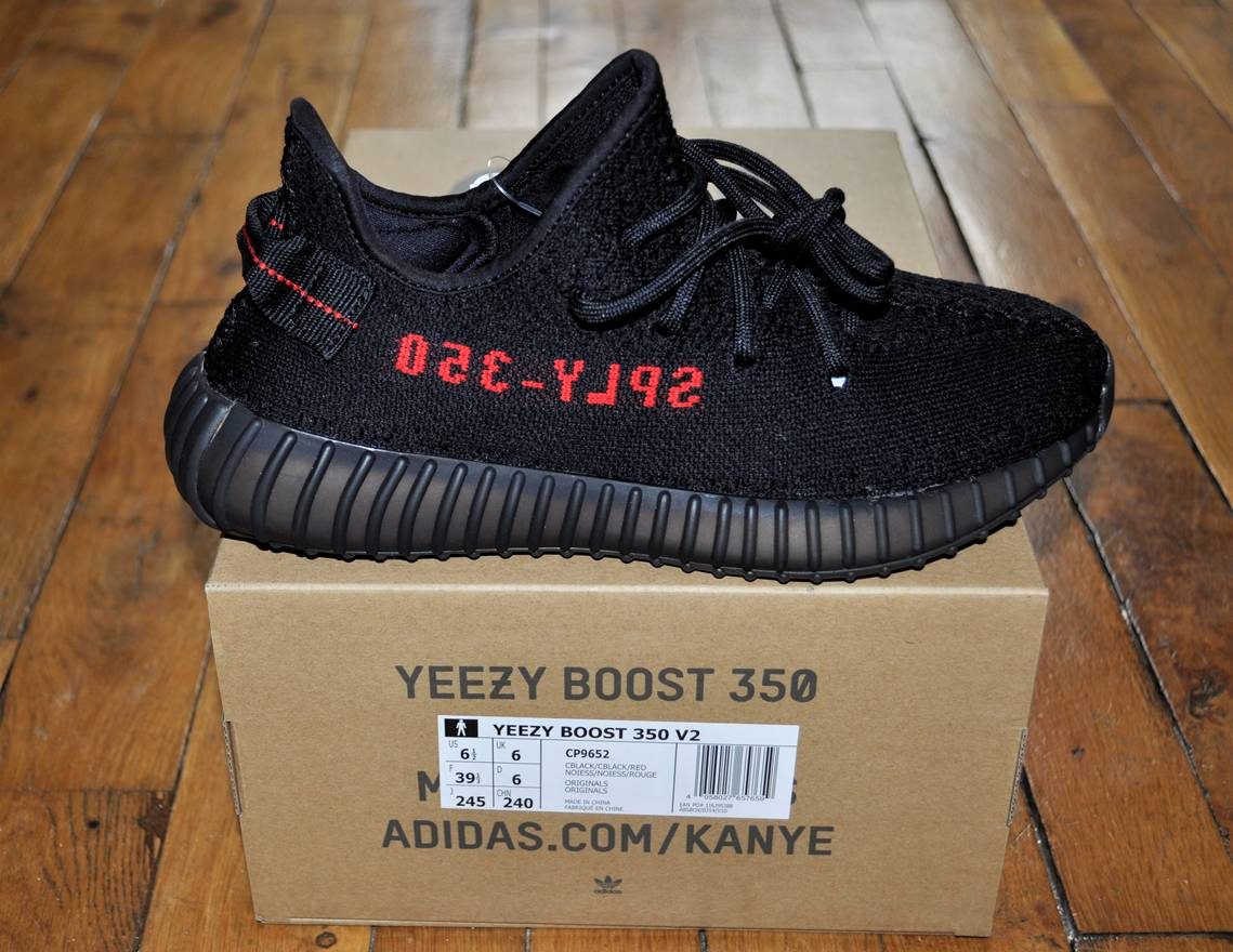 the best attitude 47e68 346d5 ... promo code adidas adidas yeezy boost 350 v2 bred black red cp9652 size  65 us 6