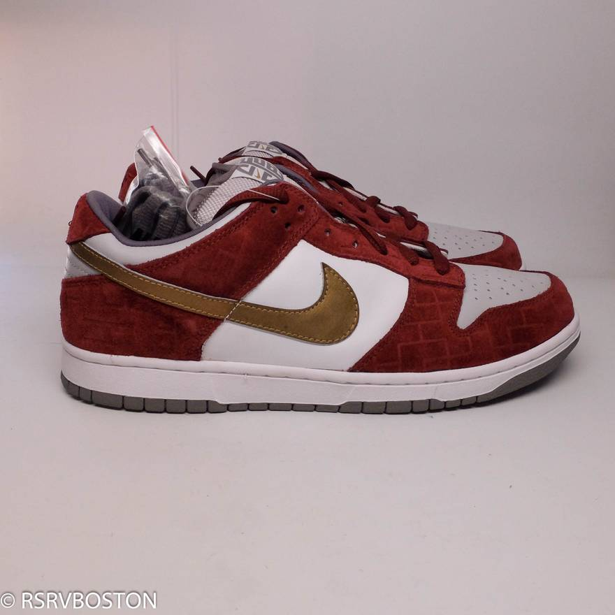 outlet store sale 8ce88 fe1b9 ... czech nike dunk low pro sb shanghai white metalic silver redwood size  us 11.5 b4668 84e71