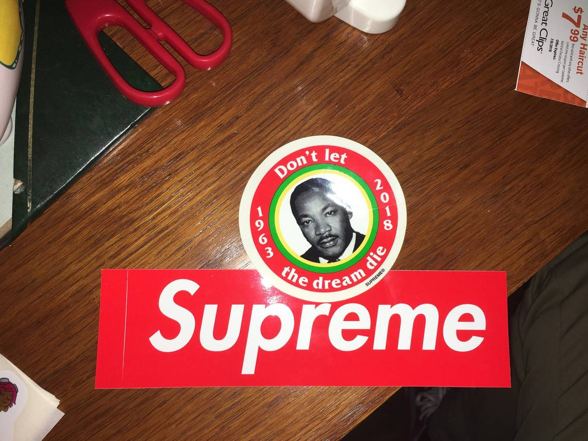 Supreme 2018 Large Mlk Sticker Size One Size Miscellaneous For