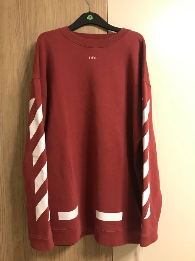 Off-White OFF WHITE DIAG ARROWS CREWNECK FALL WINTER 2017 Size l ...