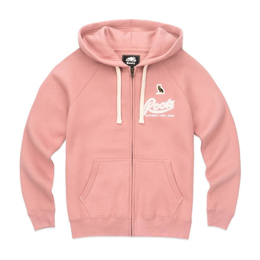 octobers very own ovo x roots women s pink hoodie drake jacket fall