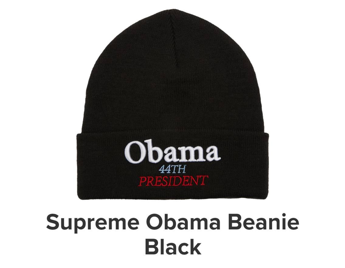a7e124836dc ... order supreme obama beanie fw18 size one size d1e72 6db02