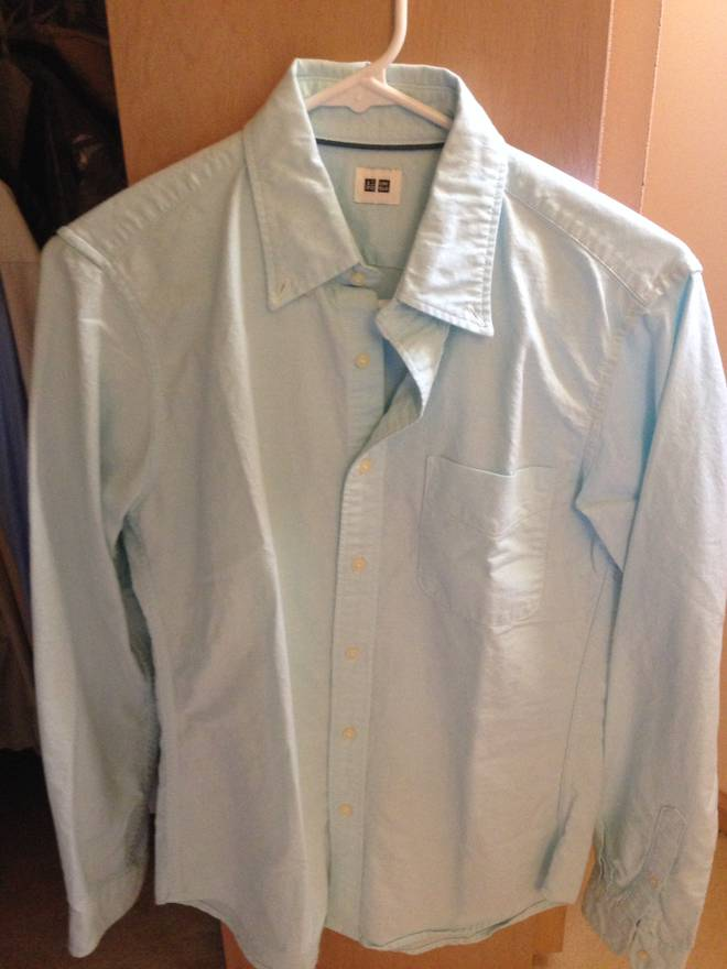 uniqlo f w uniqlo ocbd xs light blue size xs for sale grailed