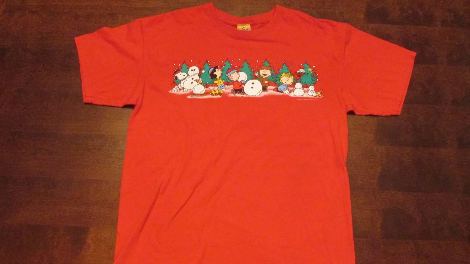 peanuts peanuts christmas t shirt size us l eu 52 54 3 - Peanuts Christmas Shirt