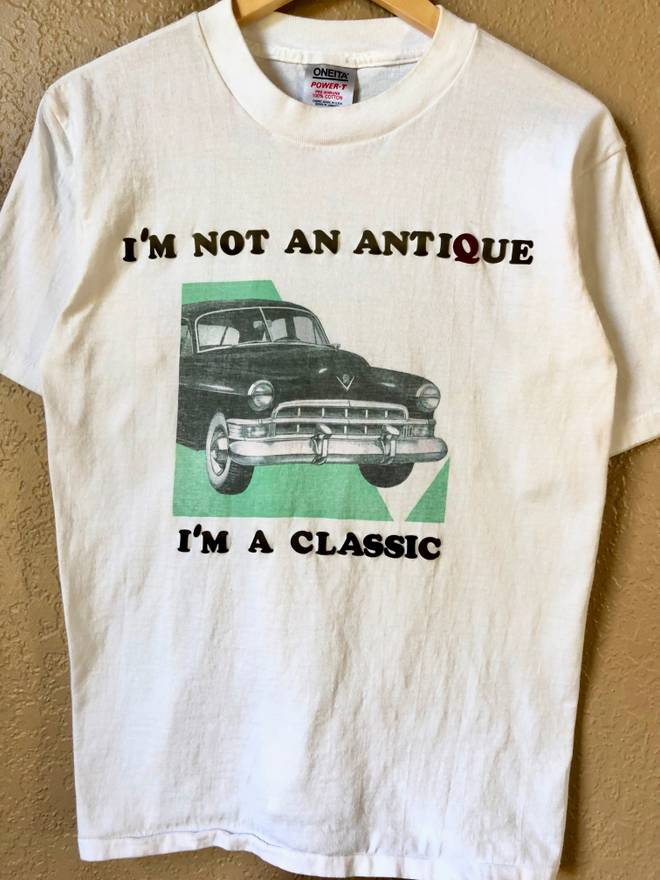 Vintage S Im Not An Antique Im A Classic Car Show Single Stitch - Car show t shirts for sale