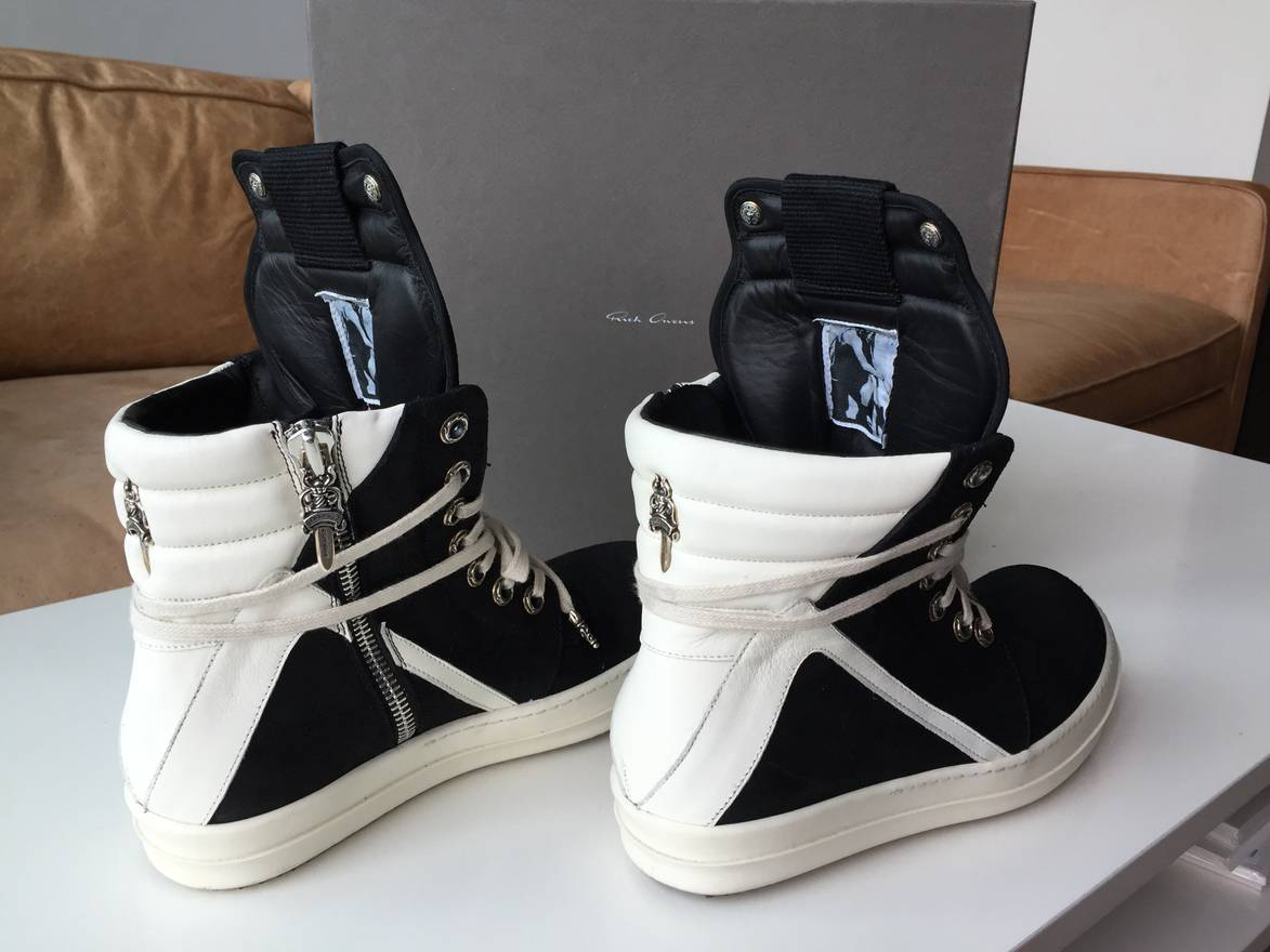 Chrome Hearts x Rick Owens Drkshdw High-Top Sneakers