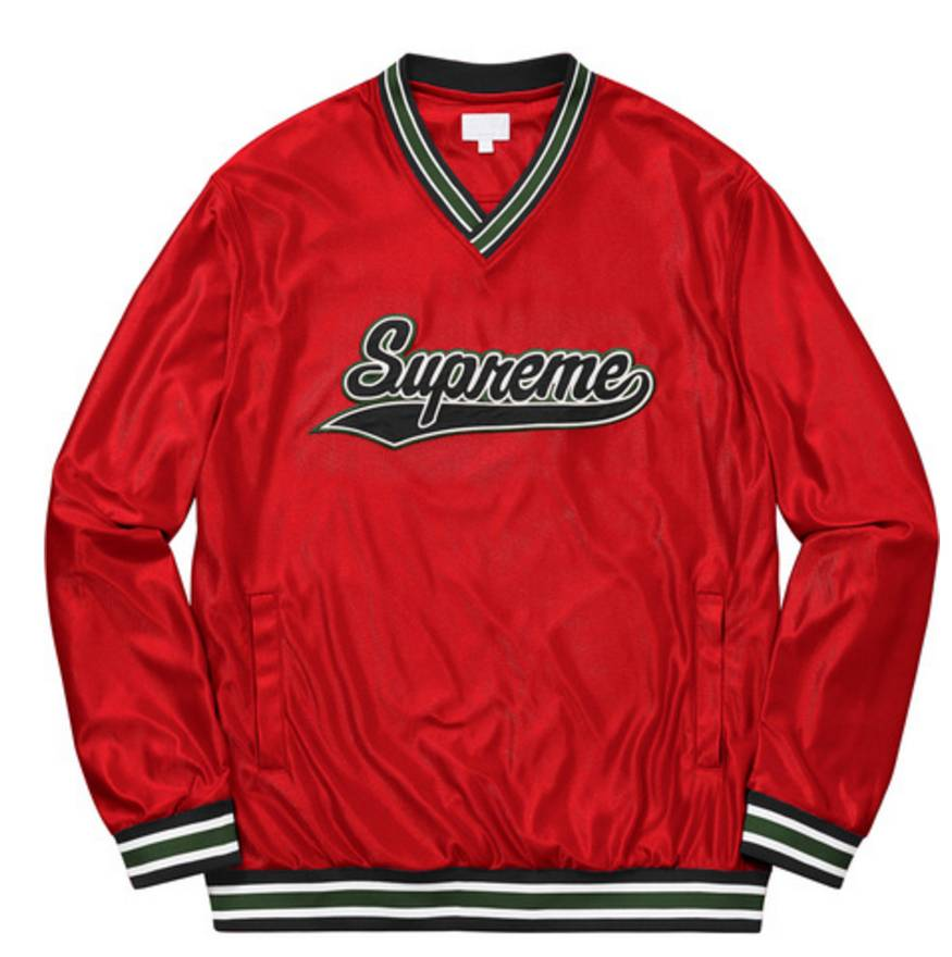 Supreme Supreme Baseball Warm up Top (XL) (Red) Size xl - Light ...