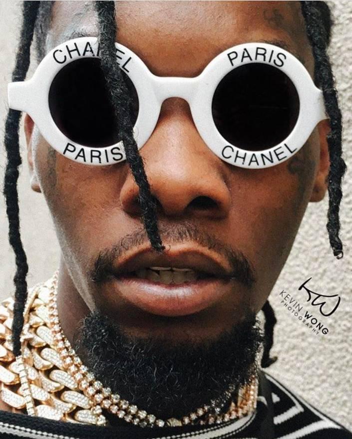 Chanel Vintage Round Chanel Paris Sunglasses Black and White 90\'s ...