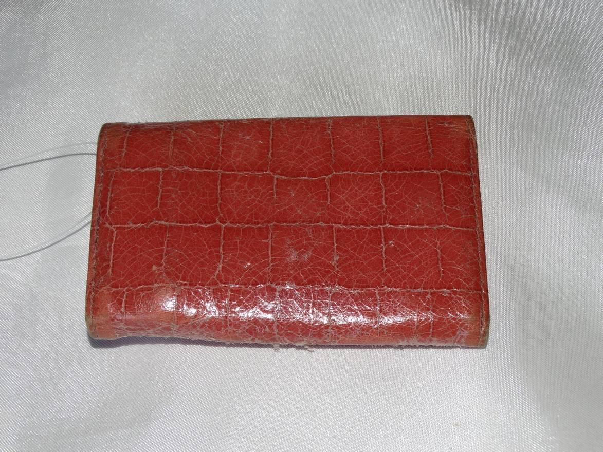 2269d8fb01b0 ... new zealand miu miu miu miu prada made in italy keyholder keys holder  crocodile salmon pink