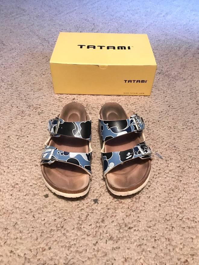 Bape 07-08 Tatami X Bape Sandals Size US 7.5 EU 40 ... 71a26a6838