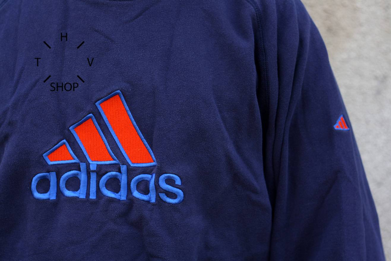 Vintage 90s ADIDAS EQT equipment logo sweatshirt crewneck