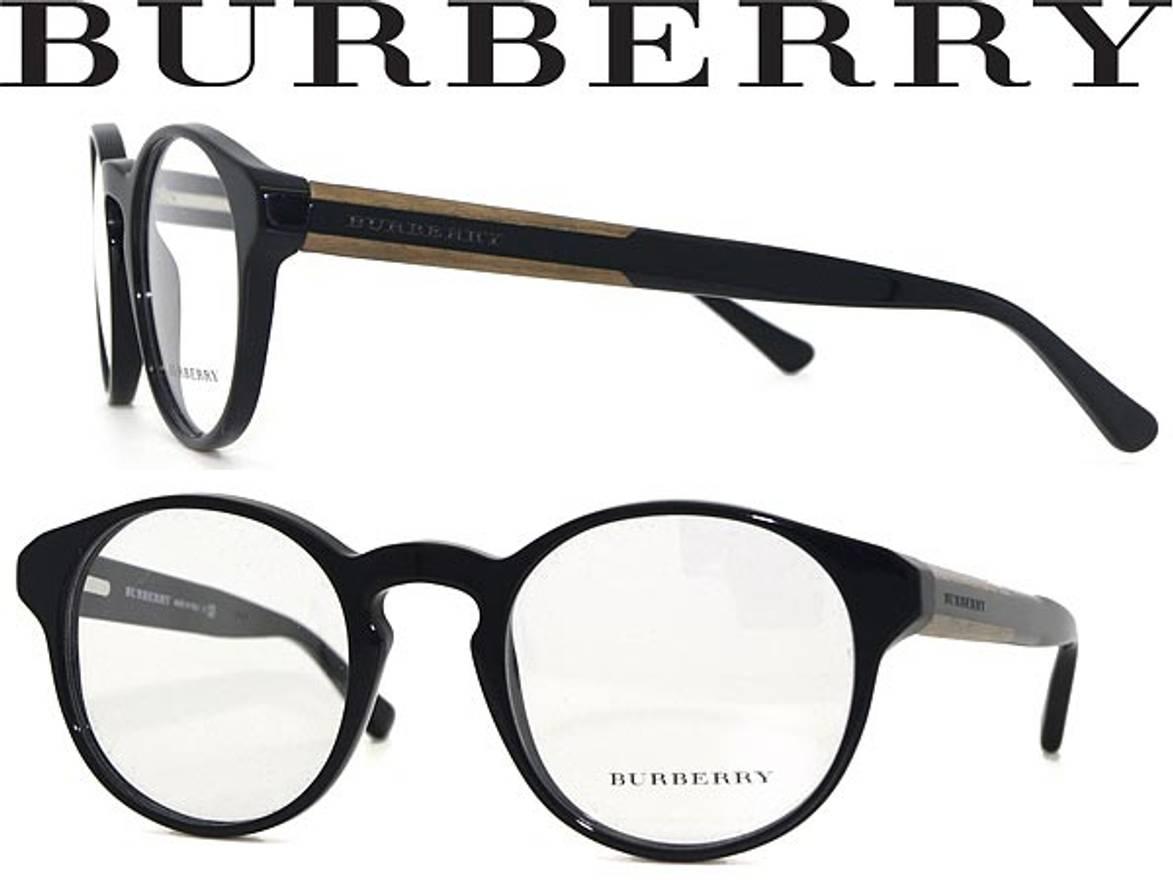 Burberry NEW Burberry 2115 Black Round Wood Veneer Eyeglasses Frames ...