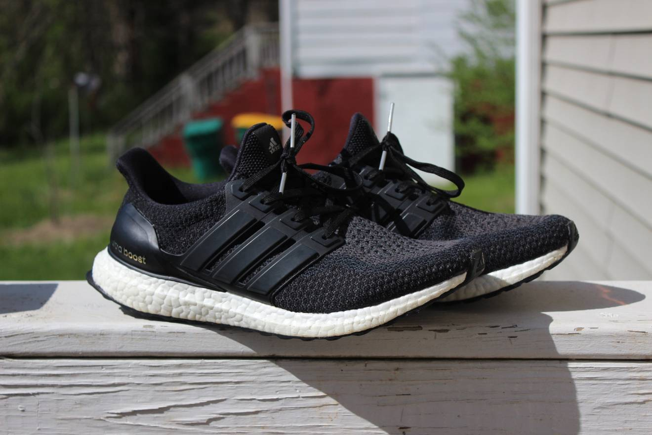 adidas ultra boost 2 0 core black size 10 low top sneakers for