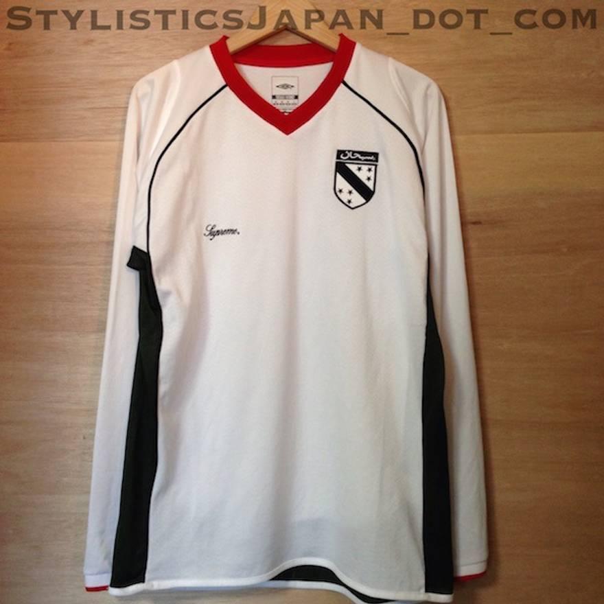 c506c9ce9 supreme supreme x umbro arabic soccer jersey white m size us m eu 48
