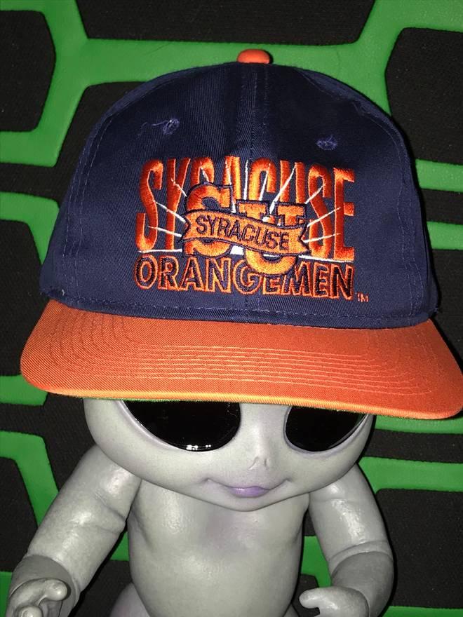 promo code 61d38 c0bf7 ... aliexpress vintage vintage syracuse university snapback hat 90s vintage  sportswear orange ncaa college basketball size one