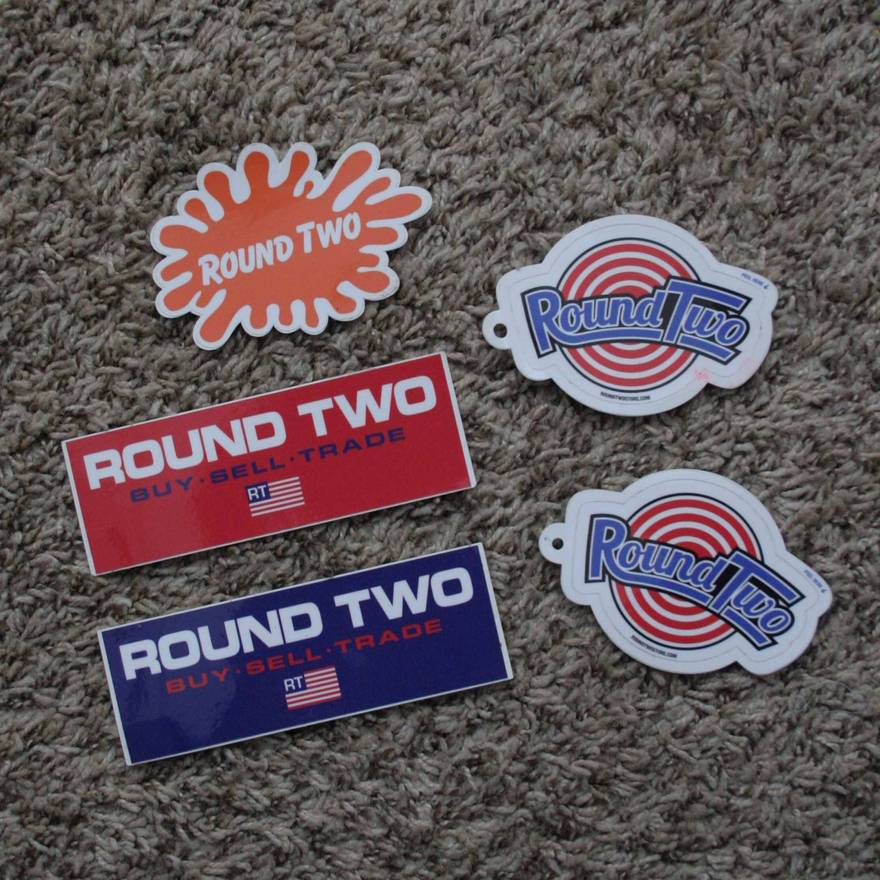 Round two lot of stickers size one size
