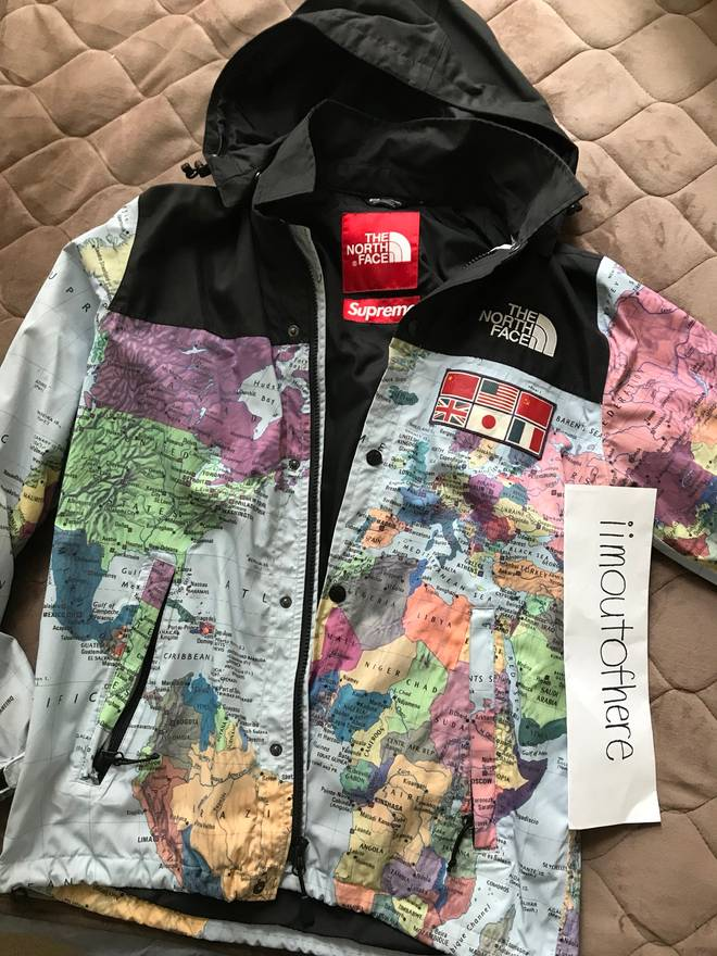 999e24cd45d6 ... coupon code for supreme supreme x the north face map jacket size us s eu  44