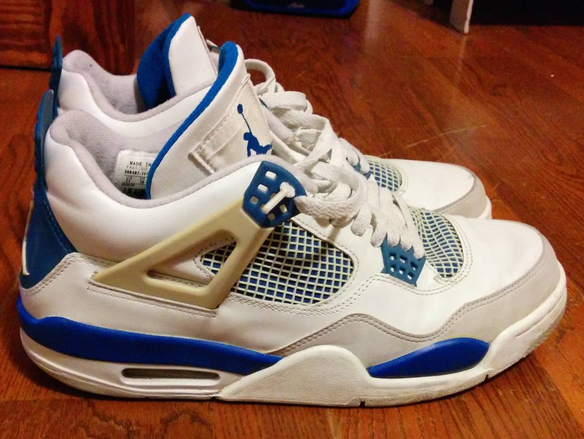wholesale dealer ae678 46b72 ... cheap nike air jordan 4 military blue white neutral grey style 308497  141 43358 575f4