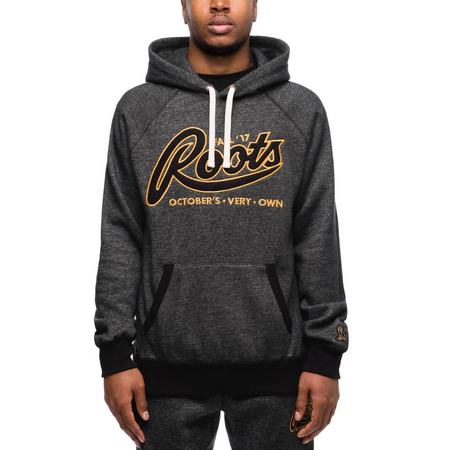 octobers very own ovo x roots track suit black pepper size l