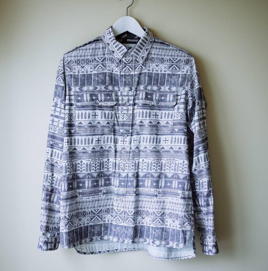 White Mountaineering Fair Isle Shirt Size s - Shirts (Button Ups ...
