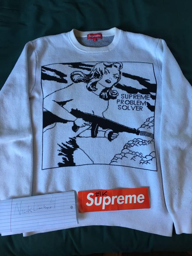 Supreme Supreme Problem Solver Sweater Size m - Sweaters & Knitwear ...