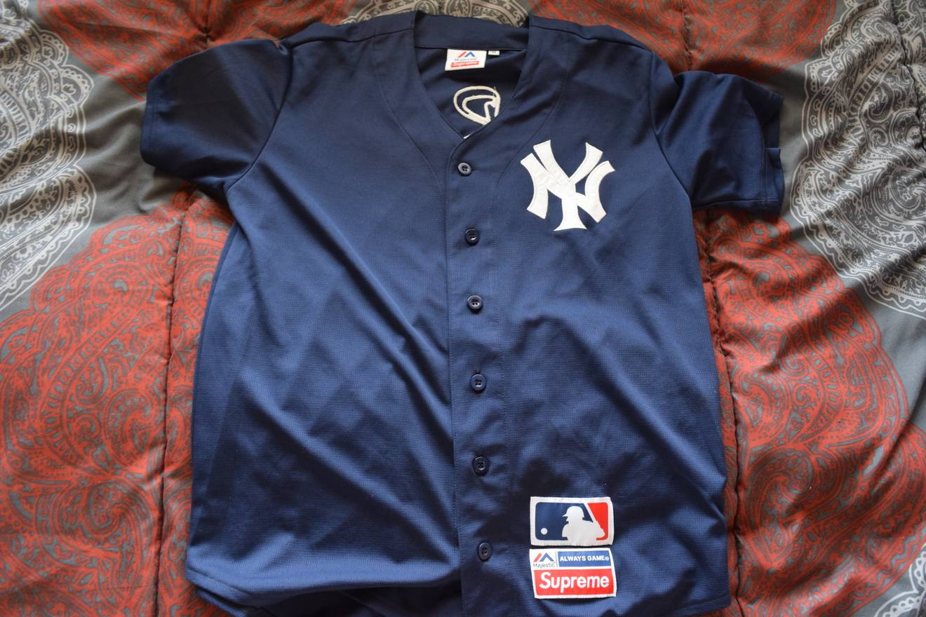newest collection 44daf c22dc cheap new york yankees jersey blue adb6c cc80d